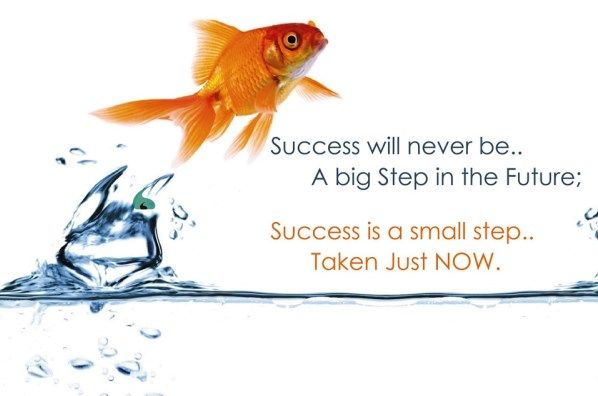Success will never be.. A big step in the future.. Success is a small step, taken just now..