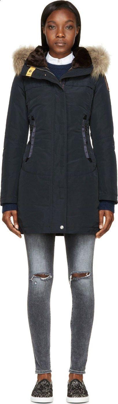 Parajumpers Navy Hooded Selma Coat
