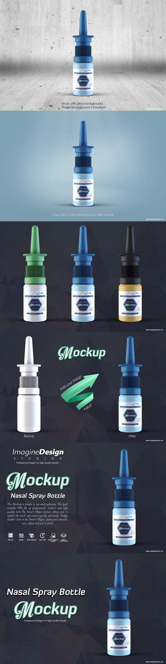 Download Nasal Spray Bottle Mockup Bottle Mockup Spray Bottle Nasal Spray