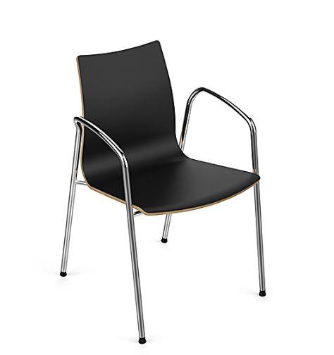 WOODY Es un ejemplo clásico del diseño italiano (Ares Line-Italia), que da solución a innumerables requerimientos: visitas, hall de esperas, salas de capacitación, colectividades, entre otros. El asiento y respaldo están fabricados en una pieza de madera de haya natural moldeada, con distintos acabados: