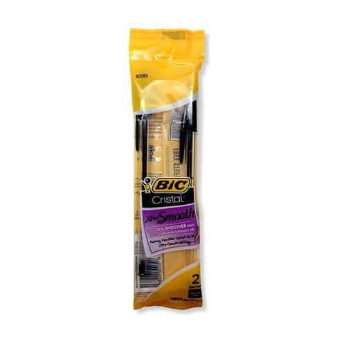 Bic Cristal Xtra Smooth BP Pens, 2 Pk - Black