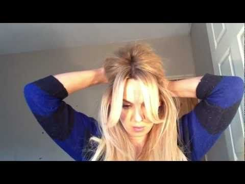 "GlamLocks.com - How To: ""Brigitte Bardot"" Hair Tutorial - Note to self: ""tongs"" = curling iron"