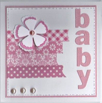 Baby Girl card - Washi Tape