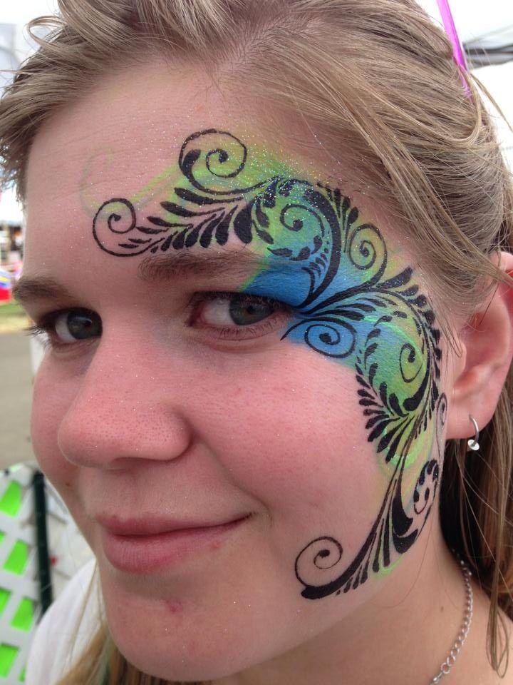 Dutch Billary Tear Drop Eye Design Face Painting