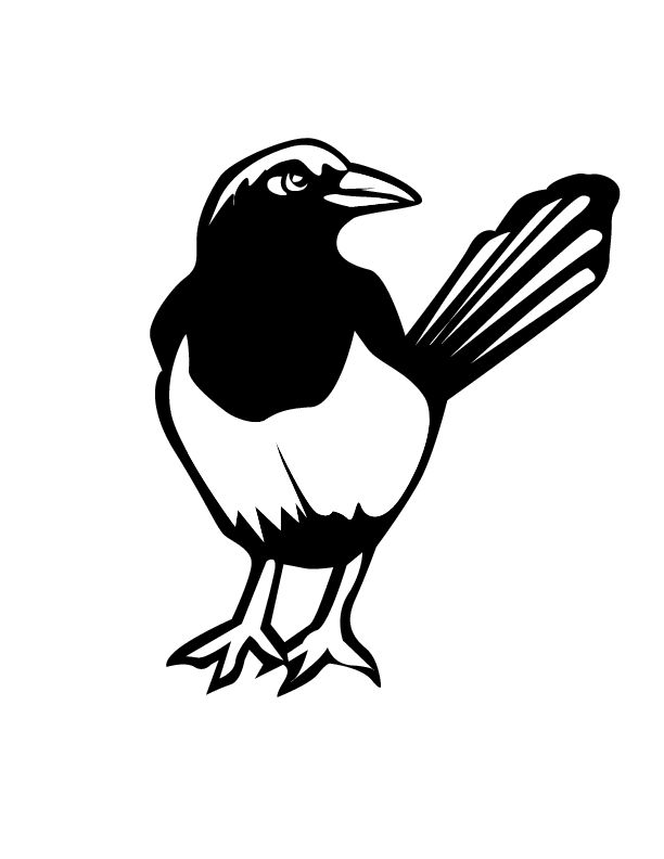 donald crews freight train coloring pages | Magpie Bird Coloring Page | Prater Lane - 3 & 4 year olds ...