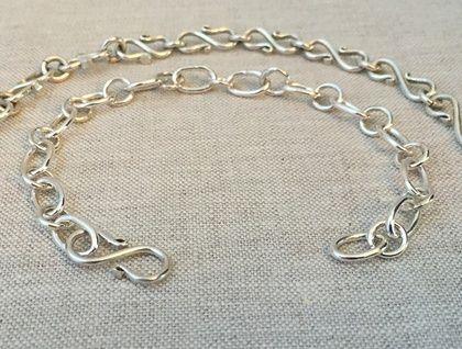 Artisan Sterling Silver Bracelet - S-Link Chain
