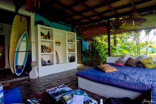 surf- pretty much what the apt looks like with all the surfer magazines & boards all over. lol