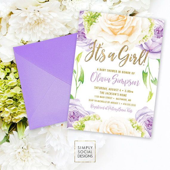 best 25+ lilac baby shower ideas on pinterest | purple baby, Baby shower invitations