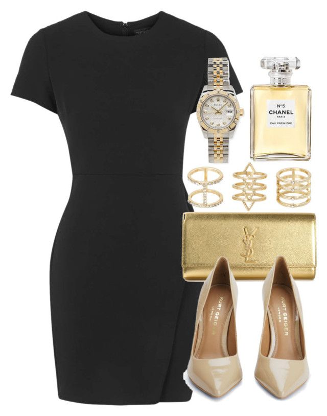 """Style #9870"" by vany-alvarado on Polyvore featuring Topshop, Yves Saint Laurent, Kurt Geiger, Chanel, Torrid and Rolex"
