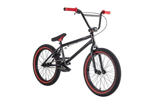 "Premium Solo 21"" BMX Bike Gloss Black 