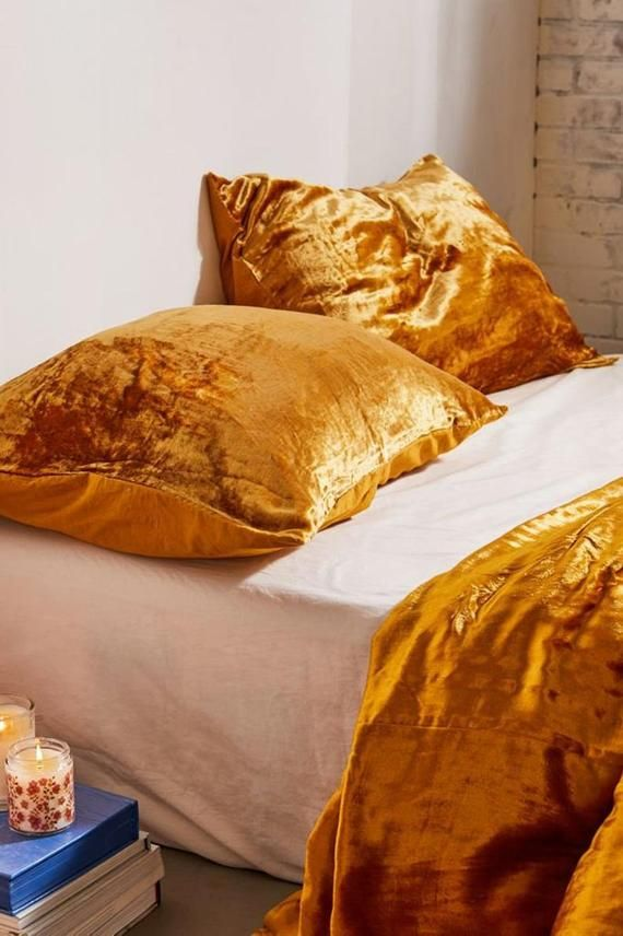 2 Pieces Luxury Velvet Pillow Cover Boho Cushion Cover Throw Etsy Velvet Duvet Velvet Pillows Velvet Bed