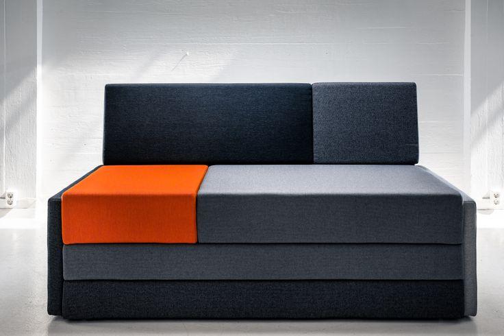 Hanasaari 1-seater sofabed by Ateljé Sotamaa.  Stage 1 / Sofa.