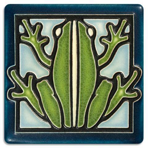 4x4 Frog - Light Blue | Motawi Tileworks