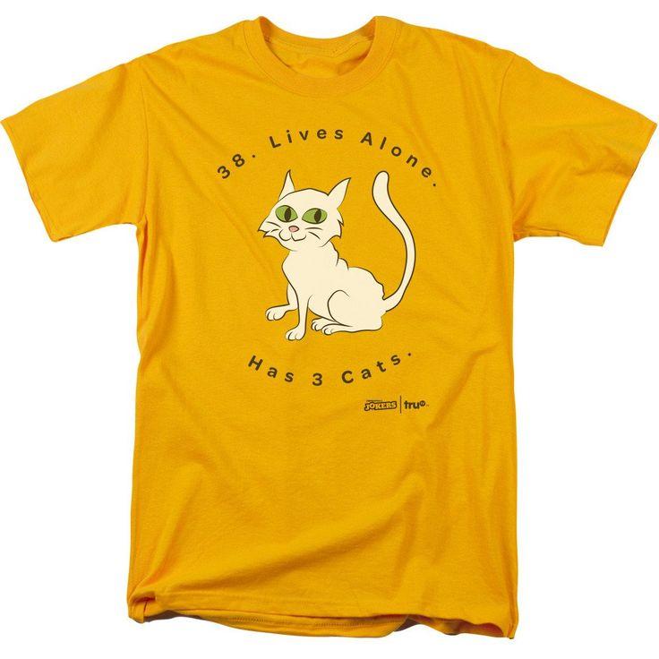 truTV Impractical Jokers Has 3 Cats Adult Gold T-Shirt