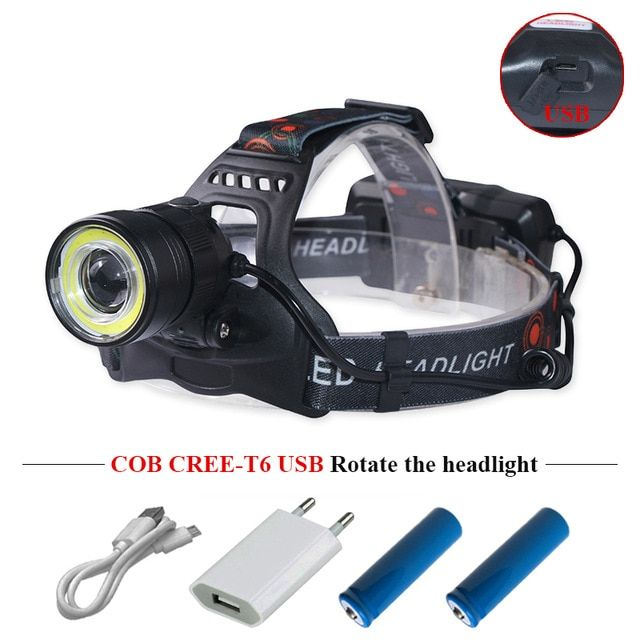 CREE Q5 LED Zoomable Headlight Headlamp Head Torch Zoom in Head Lamp Camping