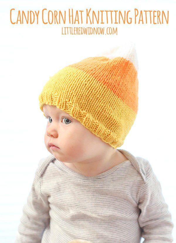Baby Candy Corn Hat Knitting Pattern Funny Halloween Hat Etsy Hat Knitting Patterns Knitting Baby Knitting