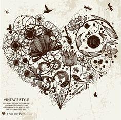 Love Heart - Zentangled :)