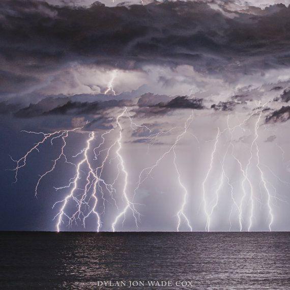 High Voltage   Lightning Lido Beach Sarasota Florida  by DJWCphoto  www.etsy.com/shop/djwcphoto  #sarasota #srq #florida #weather #lightning #etsy #art #photography #storm #landscape