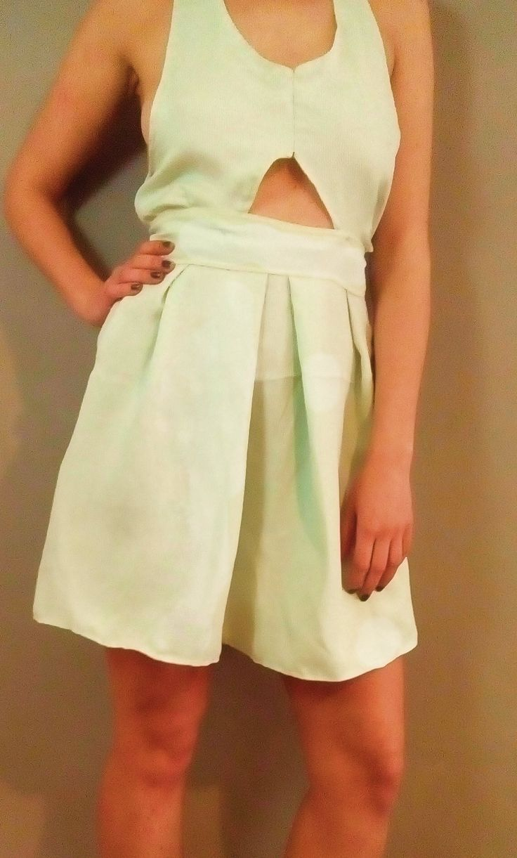 Diy gilded cocktail dress, light blue, high waisted