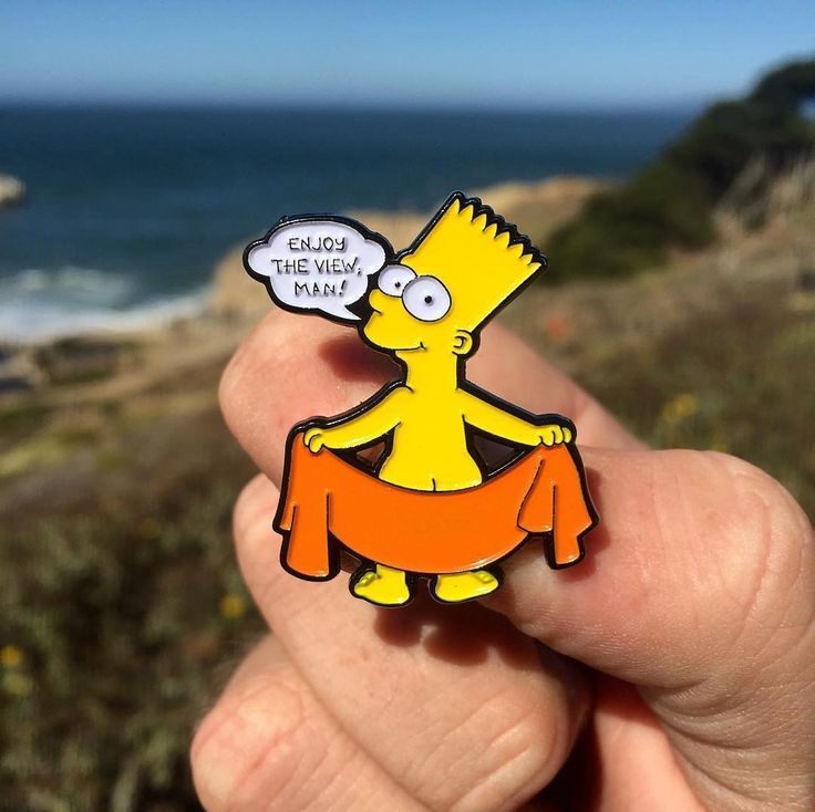 """#Repost @couch_gag  I liked @bartofdarkness air freshener so much that I made a pin of it! """"Enjoy The View Man!"""" pins are on sale now! Double clutched and limited to 100 pieces never to be reproduced. Link to purchase in my bio!    (Posted by https://bbllowwnn.com/) Tap the photo for purchase info. Follow @bbllowwnn on Instagram for more great pins!"""