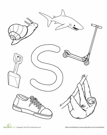 Worksheets: S Is For...