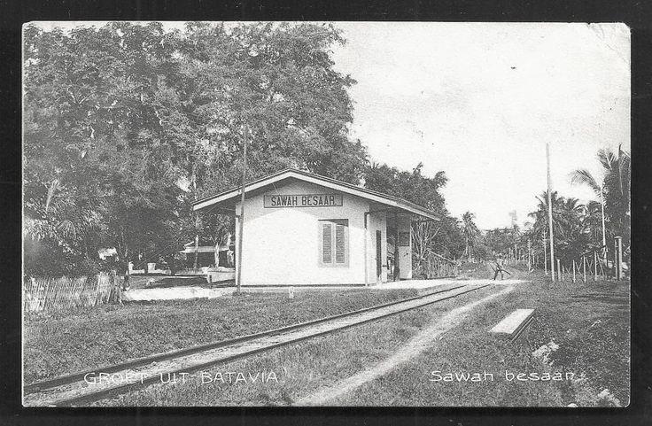 Stasiun Sawah Besar Jakarta ~ ca 1910
