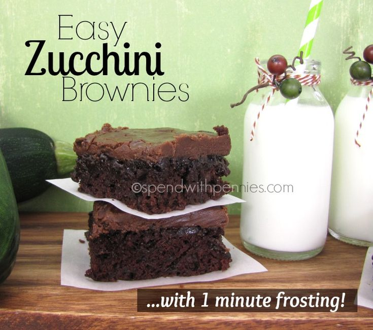 Zucchini Brownies with 1 Minute Frosting!