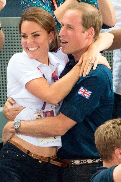 kate middleton olympics | Kate Middleton and Prince William have rare PDA at the 2012 Olympics ...