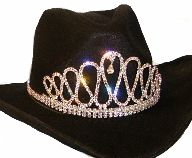 Cowboy hat tiaras, Rodeo crowns for cowgirls, Cowboy hat crowns