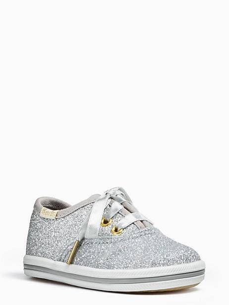 09291c5e1f0a Keds Kids X Kate Spade New York Champion Glitter Crib Sneakers, Silver -  Size 2