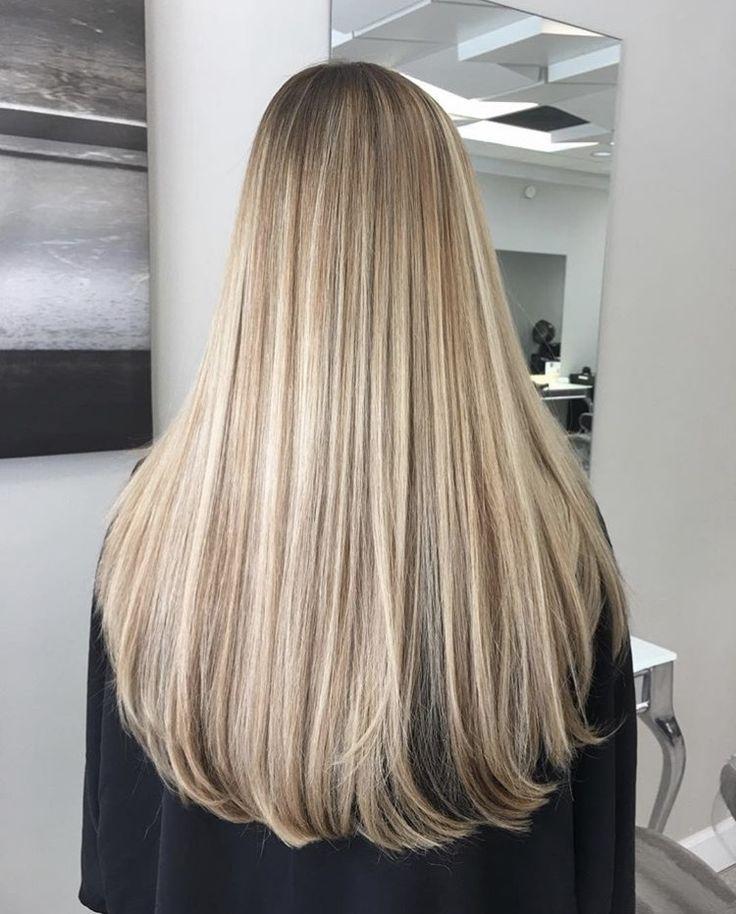 Die Perfekte Cremige Blonde Lange Haare Inspo Frisuren Styling Olaplex Haarpflege Lange Blonde Haare Balayage Blond Lange Haare Balayage Glatte Haare Blond