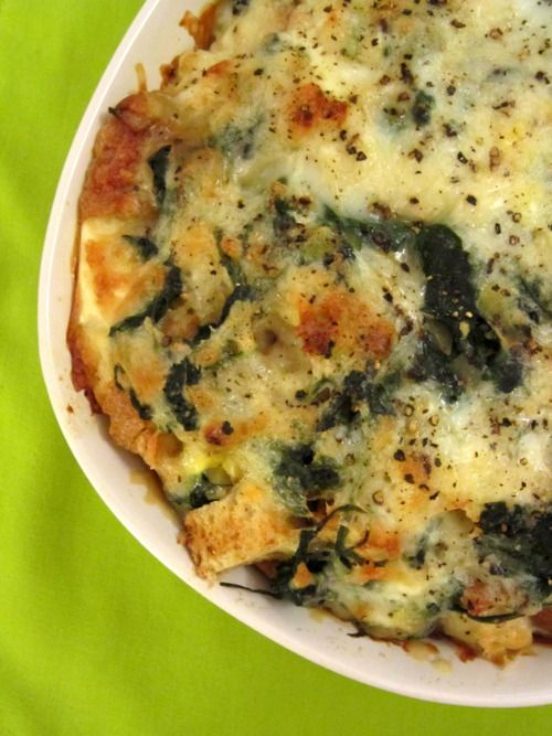 Spinach and Cheese Strata | Food | Pinterest