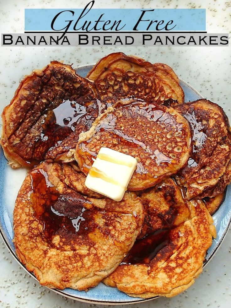 Banana bread pancakes that are gluten free. Since I'm obsessed with pumpkin, I'd probably add some pumpkin puree(: