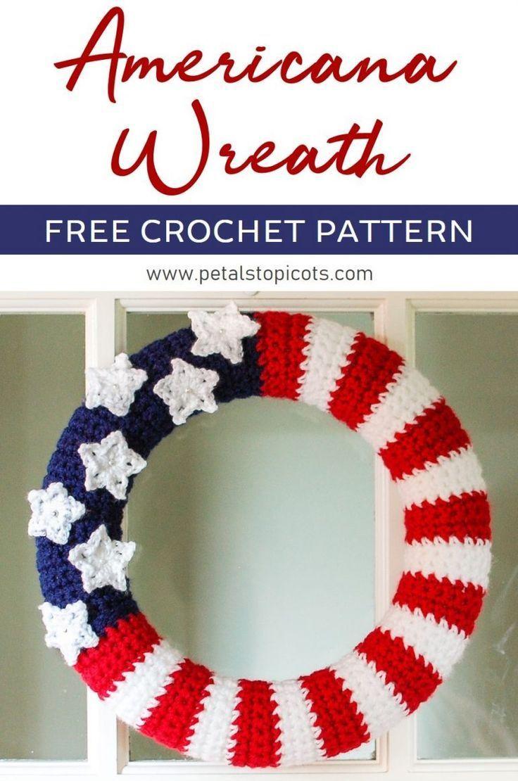 American Flag Wreath Crochet Pattern | Pinterest