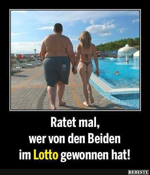 Ratet mal, wer von den Beiden im Lotto gewonnen hat! | Lustige Bilder, Sprüche, Witze, echt lustig