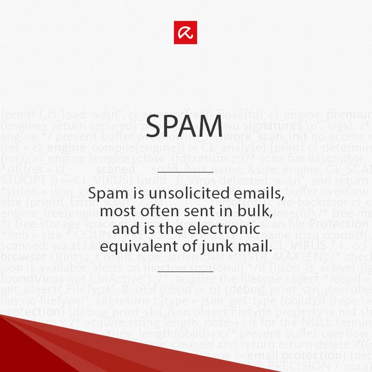 Wondering what is meant with #Spam? Find out more in our glossary! #ITSecurity #infosec