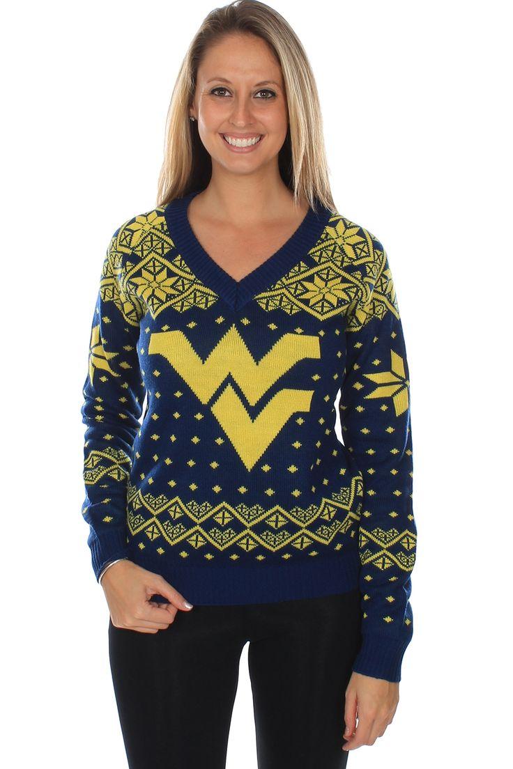 Women's West Virginia University Sweater | $69.95 | http://www.tipsyelves.com/womens-west-virginia-sweater