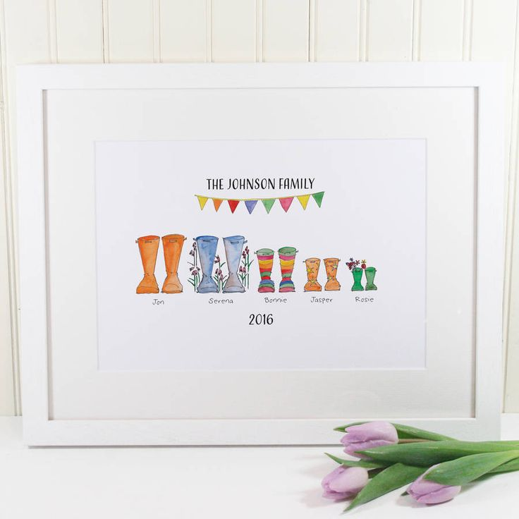 limited edition personalised welly boot print by this is nessie | notonthehighstreet.com