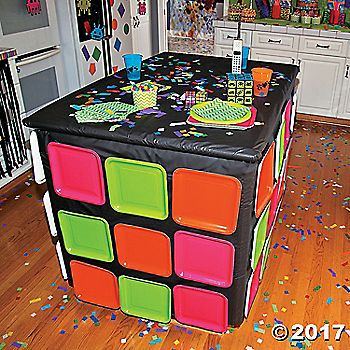 Are you looking for a great addition to your 80's theme party decorations? Explode your space in 80's style when you decorate your table with help ...