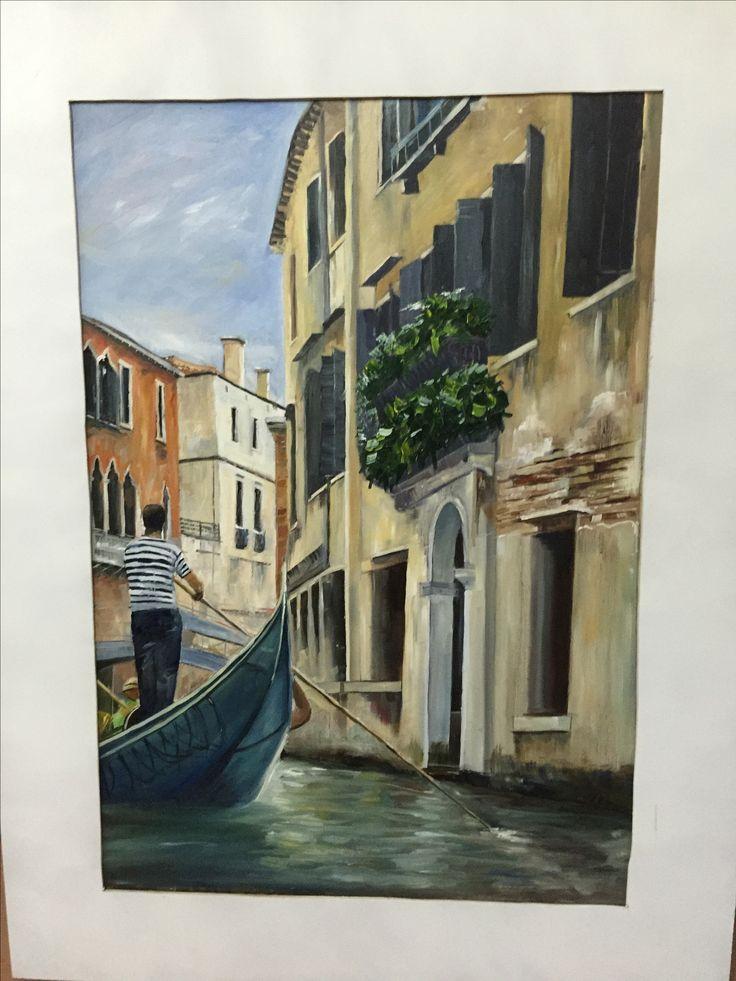 Venice - oil painting on canvas  Rick Brun