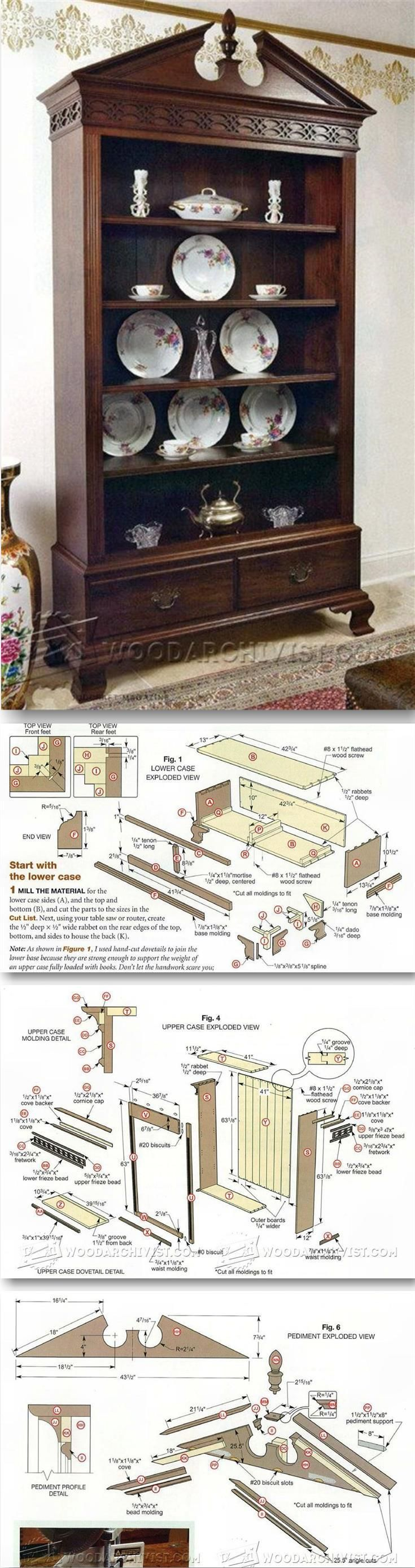 Classiс Display Case Plans - Woodworking Plans and Projects | WoodArchivist.com