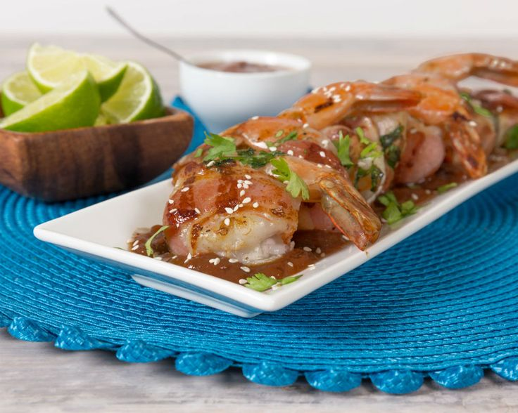 Known for breaking the expectations of Mexican food, Michelin-starred chef Carlos Gaytan of Mexique in Chicago, is taking the traditional bacon wrapped shrimp favorite and giving it a sweet and spicy