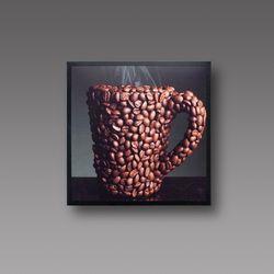 Panou radiant cu cană de cafea