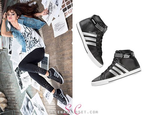 Selena Gomez relaxed in her adidas NEO Fall 2013 collection photoshoot  wearing a pair of NEO