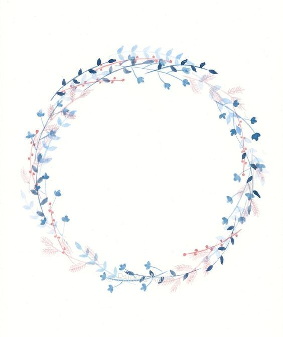 Winter Wreath, by Paloma Navio Following Botanical Watercolour Wreath Tutorial here: https://thepostmansknock.com/botanical-watercolor-wreath-tutorial/