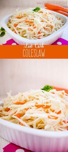 So begeisterst du deine Partygäste: Low Carb Coleslaw (Krautsalat amerikanische Art) #lowcarb #glutenfrei #zuckerfrei www.lowcarbkoestlichkeiten.de