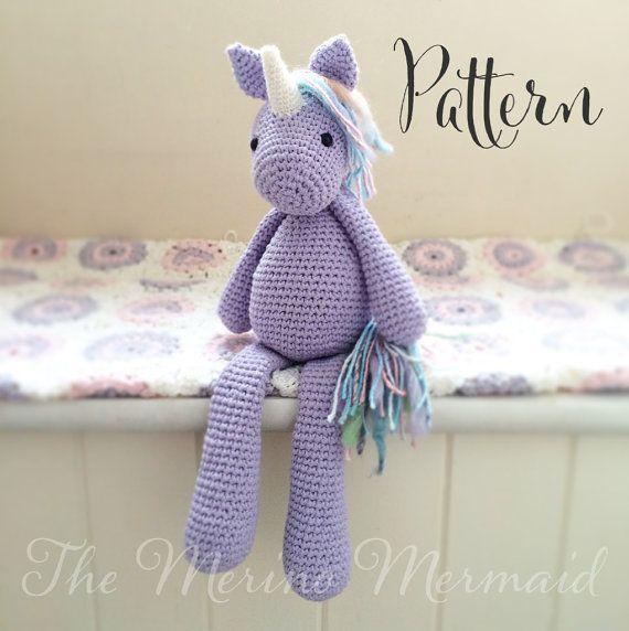 Lavender the Unicorn Crochet Amigurumi Pattern by TheMerinoMermaid