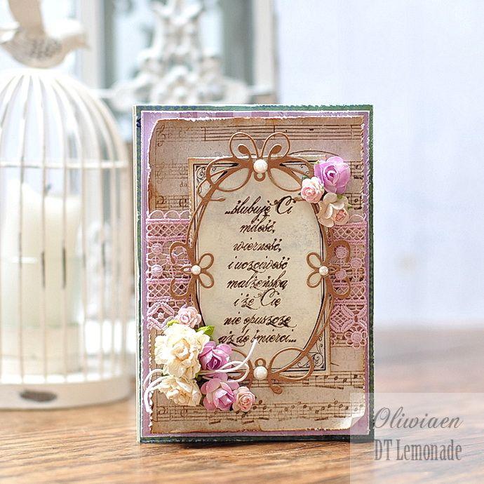 Wedding Vow Card *DT Lemonade* - Scrapbook.com