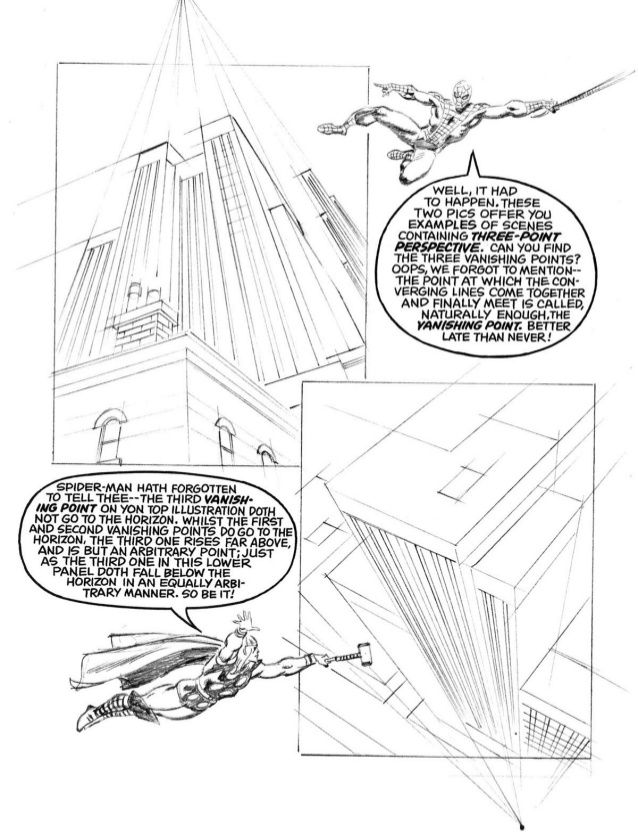 3 Point Perspective From How To Draw Comics The Marvel Way