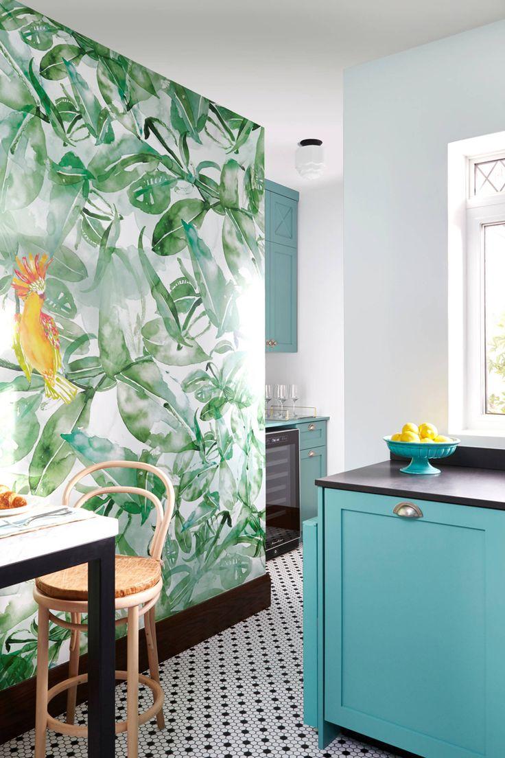 Best 25+ Teal kitchen wallpaper ideas on Pinterest